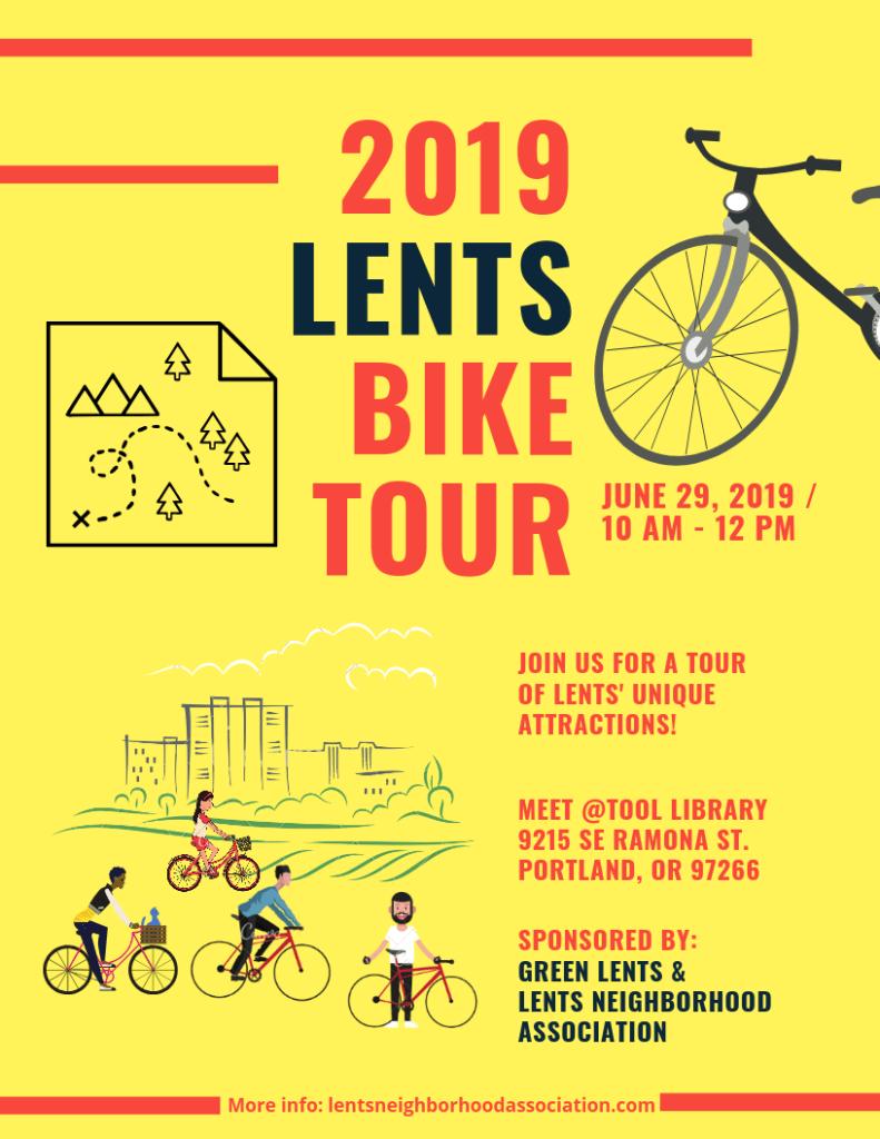 2019 Lents Bike Tour: June 29 | Lents Neighborhood Association
